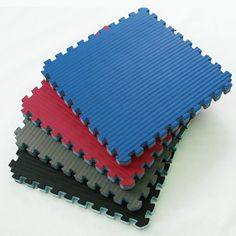 Home MMA Mats-Now, home users can have the same professional quality MMA mats for home practice that the pros use in dojos around the country. These home MMA mats are 2x2 foot interlocking puzzle home, practice, and training mats.  Easily cut to size to install wall to wall in any room.  www.greatmats.com #exerciseflooring #exercisefitnessmats