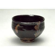 Teabowl Artist: Hamada Shoji Japanese, 1894-1978 Date: approx. 1925-1978 Medium: Black and iron-rust glazed stoneware Dimensions: H. 3 1/2 in x Diam. 4 7/8 in, H. 8.9 cm x Diam. 12.4 cm