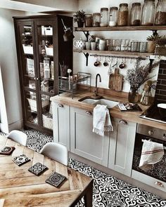 52 Fabulous Farmhouse Kitchen Tables Ideas 52 Fabulous F . - 52 Fabulous Farmhouse Kitchen Tables Ideas 52 Fabulous F Dining Room Ideas - Farmhouse Kitchen Tables, Country Farmhouse Decor, Modern Farmhouse Kitchens, Home Kitchens, Farmhouse Ideas, Diy Kitchen, Kitchen Cabinets, Summer Kitchen, Kitchen Hacks