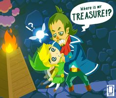 Where's the treasure Link!?, The Legend of Zelda: Phantom Hourglass artwork by Yokaioni.