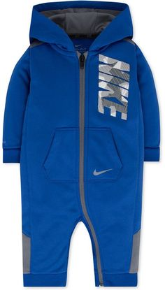 Nike 1-Pc. Hooded Therma-fit Coverall, Baby Boys (0-24 months)