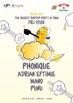 The Biggest Rooftop Party in Town Iasi - first edition. Rooftop Party, Smirnoff, Romania, Big, Youtube, Parties, Heineken, Fiestas, Fiesta Party