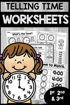 Use this 77 page resource with your 1st, 2nd, or 3rd grade classroom or home school students. These printable telling time worksheets are great for review, morning work, seat work, math centers or stations, homework, assessment, and more. Telling time will be a breeze. Worksheets include extra practice, cut and paste, and interactive notebooks. I created these so that you may differentiate in your classroom with your students. #tellingtime #readingclocks 3rd Grade Classroom, Math Classroom, Math Activities, Teacher Resources, Second Grade Math, Grade 2, Math Intervention, Telling Time, Math Centers