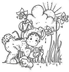 .tilda petit lapin à la chasse aux oeufs - Pâques