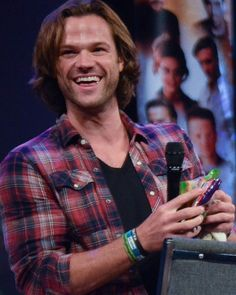 Jared with candy.