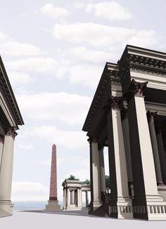 Une colonnade, un obélisque, des pilastres corinthiens de 24 mètres… Arcanthia…