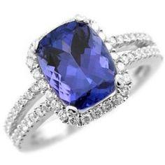 asher cut tanzanite ring