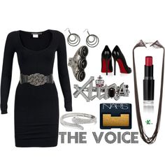 My creation inspired by Christina Aguilera's outfit during the blind auditions for season 2.