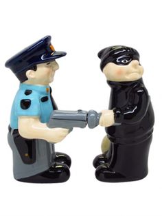"""Cop and Robber"" Salt and Pepper Set by Pacific Trading"