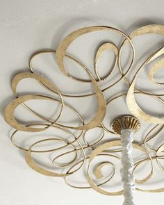 Gold Scroll Ceiling Medallion at Horchow ~ ceiling jewelery
