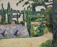 File:Émile Bernard - Landscape at Pont-Aven - Google Art Project.jpg