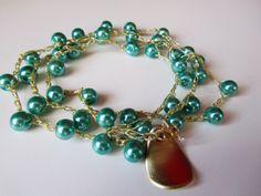 Valentines Day Giftunique beaded bracelet by ViktoriaCrochet