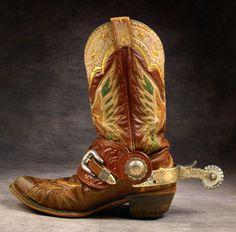 Roy Rogers custom made Eagle boots with Edward H. Bohlin spurs