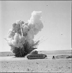 Mark II Matilda Infantry Tank during the siege of Tobruk.