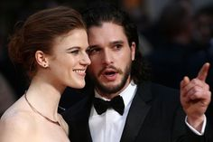 Look how perfect and happy they are. | Jon Snow And Ygritte Have Made Their Red Carpet Debut As A Real-Life Couple