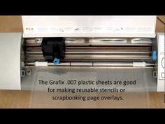▶ Silhouette Cameo - Cutting Grafix 007 Plastic Sheets - YouTube