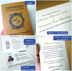 Convites Casamento Criativo Passaporte Viagem | Frete Grátis - R$ 2,99