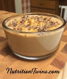 Chocolate Peanut Butter Banana Ice Cream | Only 139 Calories | Insanely Delish & Only 4 ingredients | Great Way To Squash Cravings for Sweets | No sugar added! Naturally sweet & Easy to make | MORE Inspiration & RECIPES please SIGN UP for our FREE NEWSLETTER www.NutritionTwins.com