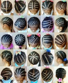 Various Cornrow Styles