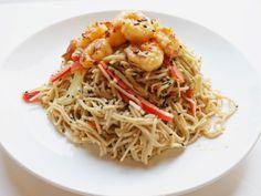 Healthy Eating - Soba Noodle Salad w/ Spicy Shrimp