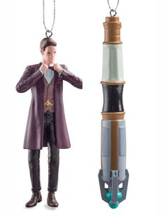 Doctor Who: Matt Smith and Sonic Screwdriver Ornaments