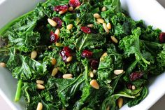 Raw Kale Salad with Miso Dressing. #AndersonEatsKale