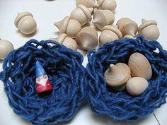 fingerknit nest Spring Fair, Finger Knitting, Gifted Kids, March 2013, Spring Crafts, Early Childhood, Handicraft, Little Ones, School Ideas