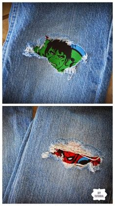 Good Totally Free sewing hacks mending Concepts Fun DIY Jean Hole Patches in Cutest Ways - Patch Jean Holes with Custom Iron DIY Tutorials Sewing Hacks, Sewing Tutorials, Sewing Crafts, Sewing Tips, Patch Jeans, Jean Diy, Leftover Fabric, Sewing Projects For Beginners, Diy Projects