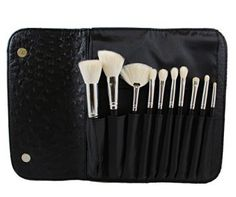 Morphe 10 Piece Deluxe Brush Set w Ostrich Skin Snap Case Set 692 ** Check out this great product.