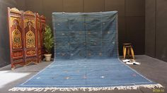 Large Handwoven 8ft x 13.1ft Thin flat Handwoven Berber