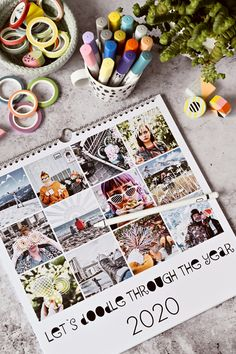 DIY | Kalender-Gestaltung mit Fotos & Zeichen-Apps - let's doodle through the year | kreative Fotobearbeitung mit dem Zeichenprogrammen | enthält Werbung | luziapimpinella.com Diy Kalender, Calendar, Apps, Let It Be, Easy, Photography, Pictures, Photo Calendar, Gifts For Mom
