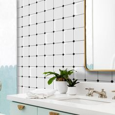 FUNLIFE Checkered White Marble Peel and Stick DIY Tile   Etsy Headboard Decal, Full Size Headboard, Peel And Stick Tile, Stick On Tiles, Diy Tile Backsplash, Tile Stairs, Stick Photo, Floor Stickers, Laundry Room Bathroom