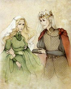 Aerys II Targaryen Joanna Lannister Be Our Guest by wolverrain.deviantart.com on @deviantART
