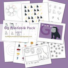 Gg is for Gorilla Printable Pack Letter G Activities, Ramadan Activities, Letter Games, Abc Games, Animal Activities, Summer Activities, Free Preschool, Preschool Printables, Preschool Worksheets