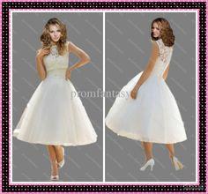 Wholesale 2013 Detachable Lace Bolero Jacket Sweetheart Neckline Tea-Length Fluffy Tulle Ball Gown Informal Beach Garden Bridal Wedding Dresses, Free shipping, $137.76-162.8/Piece | DHgate