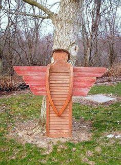 Repurposed Shutters to Garden Angels