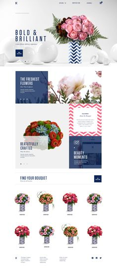 Kalla Modern Online Floral Experience by Donhkoland Design Web, Layout Design, Email Design, Web Layout, Book Layout, Website Design Inspiration, Best Website Design, Layout Inspiration, Website Designs