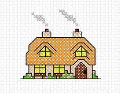 Cross Stitch Addict: FREE Cross Stitch Pattern - 'Rose Cottage'