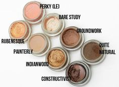MAC Paint Pots...great eyeshadow bases to make your eyeshadows really pop with color.Doesn't crease,budge or fade.