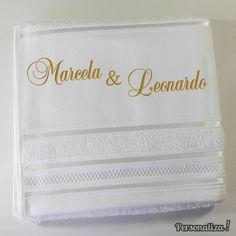 Toalha Bordada Casamento Nomes Casal