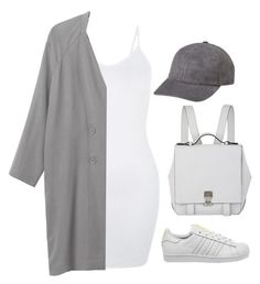 """""""Untitled #6431"""" by heynathalie ❤ liked on Polyvore featuring Mode, adidas, Proenza Schouler und Monki"""