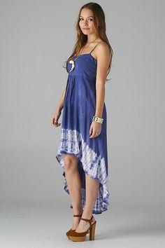 Love the tie dye high low dress!