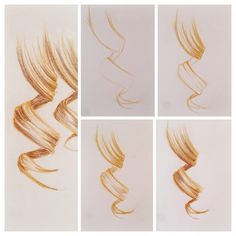 So yeah here is the curl tutorial! I used two different shades of brown in it. The first one I used is this sand-colored, I sketched the curl with it and after that I drew the shadows with the dark brown one. If you have something to ask about this tutorial go ahead an do it! #hairtutorial #hairdrawing #curltutorial #drawingtutorial #drawing #tutorial #sketch #hair -titta