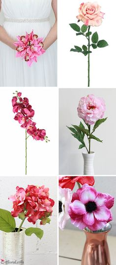Pink Silk Flowers fo