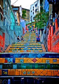 .Rio mosiac stairs -