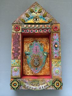 Laurie Mika-mixed media mosaic shrine