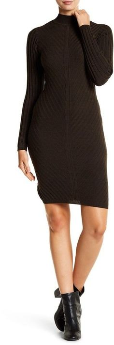 Dex Ribbed Knit Body Con Dress
