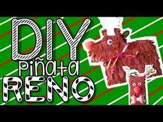 PIÑANATA DE RENO | Dos maneras de hacer una piñata en forma de RENO | DIY | navidad - YouTube