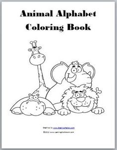 Free!!! 26 full page adorable alphabet animal pictures (A-Z) to color/use for artic or reinforcers!  Very cute!