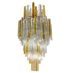 Spectacular Venini Chandelier with Multi Tier Design | From a unique collection of antique and modern chandeliers and pendants  at https://www.1stdibs.com/furniture/lighting/chandeliers-pendant-lights/
